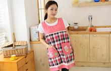 Korean Home Women Kitchen Apron Cooking Coffee Shop Work Chef Aprons For Woman Female Tablier Cuisine Cartoon Animal Pattern(China)
