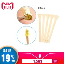 1 set/50 stks Houten Waxen Wax Spatel Tongspatel Wegwerp Bamboestokken Kit Skin Beauty Tool(China)