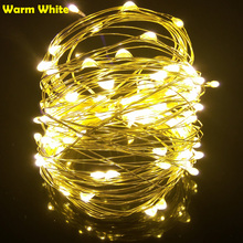 10M 33FT 100 led USB Outdoor Led Copper Wire String Lights Christmas Festival Wedding Party Garland Decoration Fairy Lights(China)