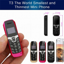 LONG-CZ T3 FM magic voice small thin mini mobile phone bluetooth 3.0 dialer Phonebook/SMS/music sync cell phone(China)