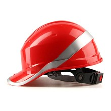 Safety Helmet Hard Hat Work Cap ABS Insulation Material With Phosphor Stripe Construction Site Insulating Protect Helmets(China)