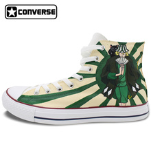 Design Skateboarding Shoes Anime Bleach Urahara Kisuke Hand Painted Canvas Sneakers Man Woman Converse Chuck Taylor Brand