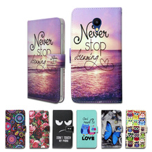 100% Special Luxury PU Leather Flip Cartoon wallet case Book case for Meizu M5c(China)