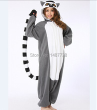 Kigurumi New Lemur Long Tail Monkey Adult Onesie Unisex Pajamas Halloween Christmas Party Costumes(China)