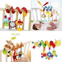 Buy Baby Toys 0-12 Month Infant Stroller/Bed/Cot Crib Hanging Infant Kids Educational Cartoon Animal Pattern Rattles Toy for $6.65 in AliExpress store