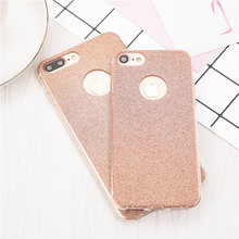 shiny diamond cell phone cases For iphone 6 6S 6Plus 6s plus 7 7Plus 5 5S SE Cases Ultra-thin Soft TPU Glitter back cover case