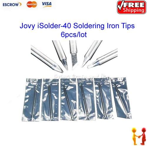 Free Shipping!!  Original Jovy iSolder-40 Soldering Iron Tip Type JV-TP1 / TP2 / TP3 / TP4 / TP5 / TP6 (6pcs/lot)<br><br>Aliexpress
