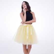 Skirts Womens 7 Layers Midi Tulle Skirt American Apparel Tutu Skirts Women Ball Gown Party Petticoat 2017 Lolita Faldas Saia