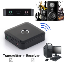 2 in 1 Bluetooth 4.0 Transmitter Receiver A2DP Stereo Audio Music 3.5mm Jack Adapter for Tablet TV PC FW1S