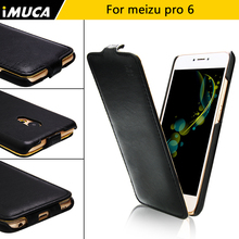 "iMUCA Phone cases meizu pro 6 case cover luxury flip leather capa for meizu pro 6 pro6 5.2"" vertical case coque mobile phone bag(China)"