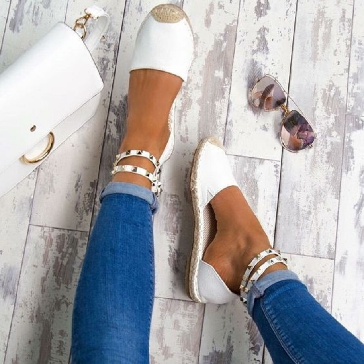 Women Sandals Fashion Peep Toe Summer Shoes Woman Faux Suede Flat Sandals Size 35-43 Casual Shoes Woman Sandals Zapatos Mujer (9)
