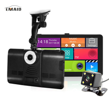 "EMAID EMAID New 7"" Car DVR GPS Navigation Wifi Android Touch Full HD 1080P Car Camera Dual Lens Parking Rearview Mirror Came wit(China)"