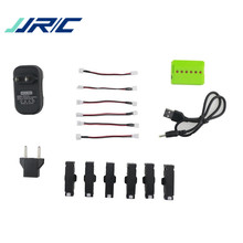 Best Deal JJRC H37 Mini RC Quadcopter Spare Parts 4Pcs 3.7V 400mah 25C Battery And Charger Set X6A-A17(China)