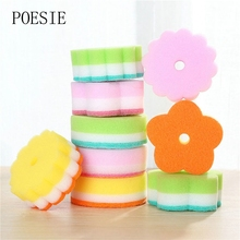 New Arrival! 5pcs/Lot Random Color Multi-function Magic Sponge Eraser Cleaner Dish Washing Cleaning Sponge Kitchen Bathroom(China)