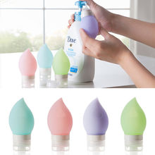 Hot Selling Silicone Refillable Portable Mini Traveler Packing Bottle Press Bottle for Lotion Shampoo Bath travel bottle
