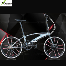 New Brand 20/22 inch wheel aluminum alloy frame double tube Folding bike outdoor BMX bicicletas disc brake bicycle(China)