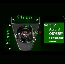 CCD car front logo camera for Honda Accord CRV Odyssey XR-V Crosstour Fit City CIVIC Positive image camera parking Assistance(China)