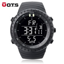 OTS Luxury Brand Digital Watch Men Sports Watches 50M Waterproof Large Dial Clock LED Hours Outdoor Military Luminous Wristwatch(China)