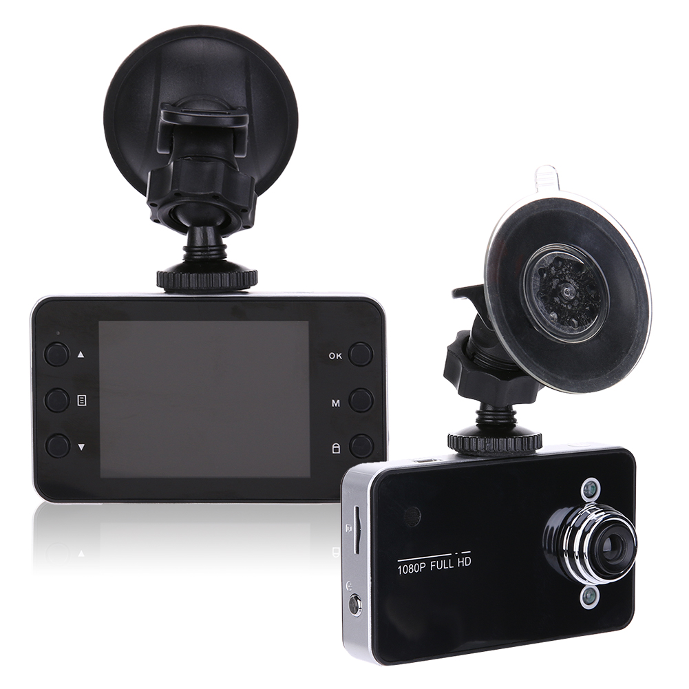 K6000 Driving Recorder Car DVR Camera Ultra FHD 1080P 140 Degree Wide Angle Night Vision Cycle Recording Car Dash Camcorder 12