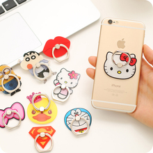 Cute Cartoon Finger Ring Holder Universal Bow Kitty Lips Monkey Mobile Phone 3D Metal Stander Finger Grip for iPhone Samsung HTC