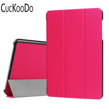 CucKooDo 100Pcs/lot Ultra Lightweight Slim Smart Cover Case for 9.7 inch ASUS Zenpad Z10 ZT500KL Verizon 4G Let Tablet(China)