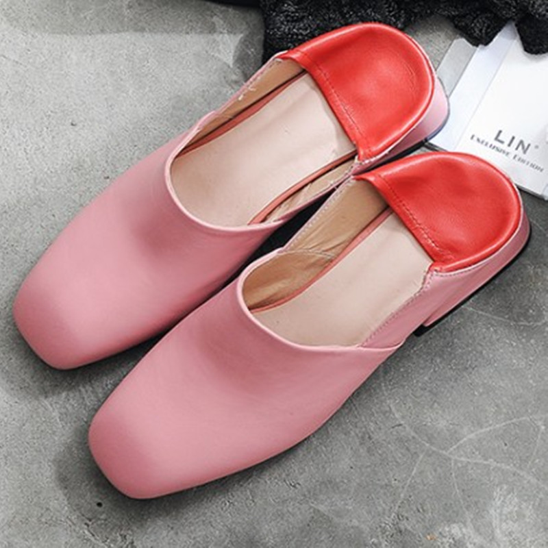 High quality 2017 Fashion women spring flats Genuine leather Square Toe Comfortable Imported sheepskin Oxford loafers shoes <br>