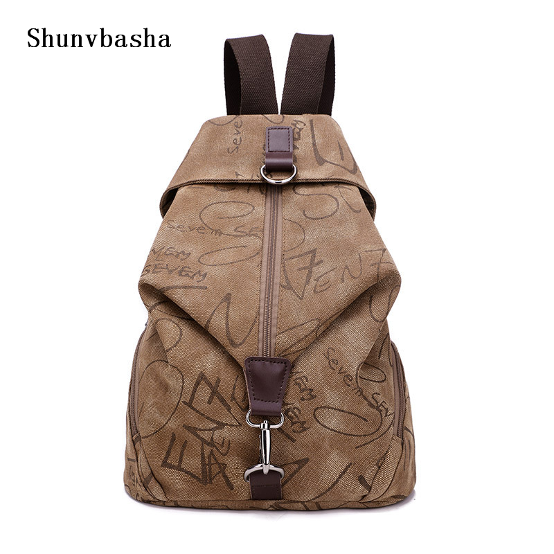 Canvas Backpack 2017 New arrival man and women couple canvas shoulder bag bucket backpack simple wild schoolbag free shipping<br><br>Aliexpress
