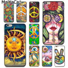 MaiYaCa Хиппи Psychedelic Art Peace Симпатичные аксессуары чехол для Apple iPhone 8 7 6 6 S Plus X 5 5S SE XS XR XS MAX(China)