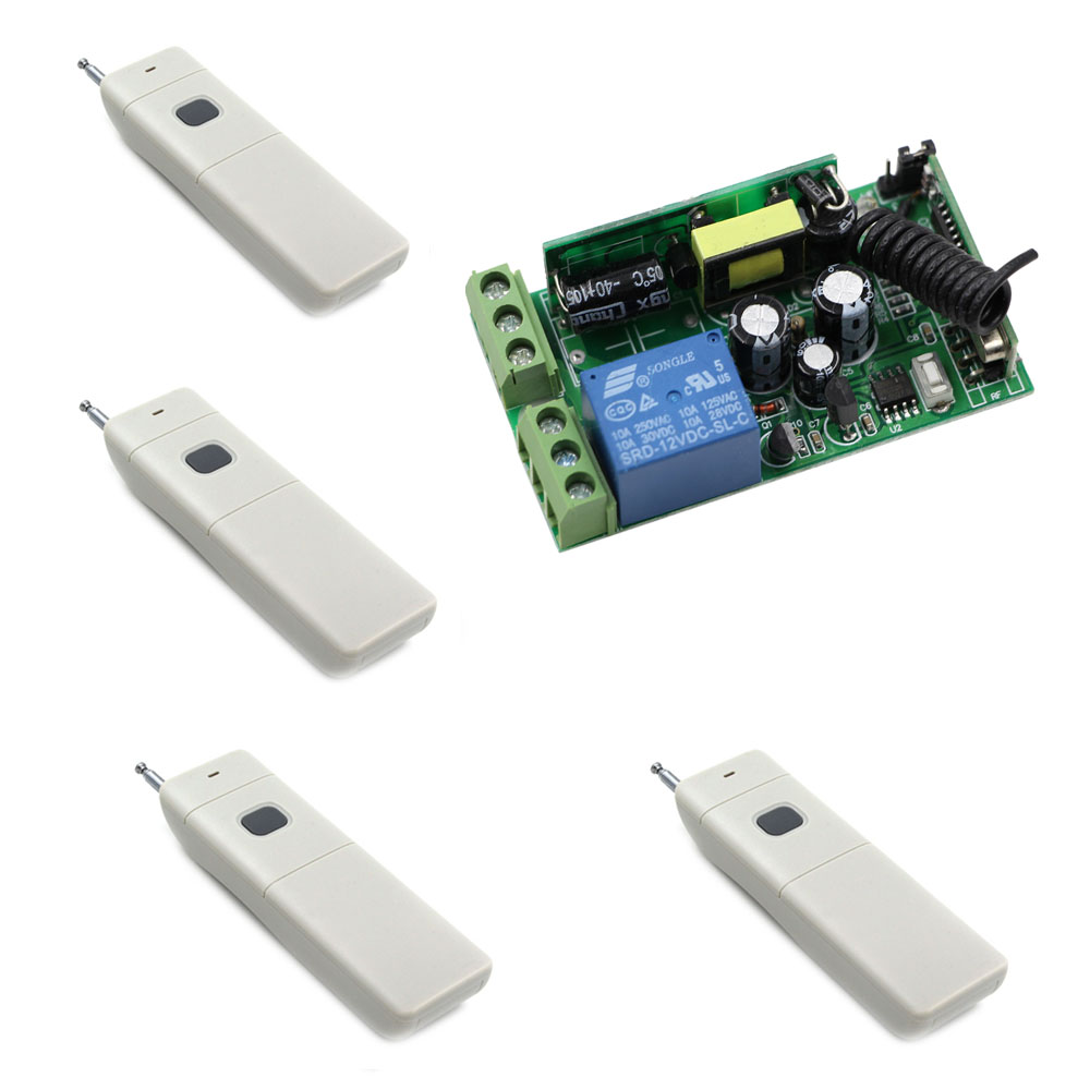 AC 85V 110V 220V 240V 250V 1CH Relay Wireless Remote Control Switch System Radio Light Switch Receiver Long Range Transmitter <br>