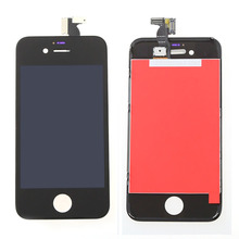 Black color Display For iPhone 4  LCD Touch Screen Glass with Digitizer + Bezel Frame Full Assembly ,Free Shipping
