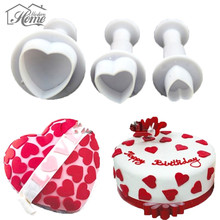 Heart Leaves Butterfly Shaped Plastic Cake Mold Cookie Cake Cutter Molds Fondant Plunger Biscuit Sugarcraft Cake Decorations