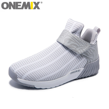 onemix New Winter Unisex High Ankle Boots Warm Women Running Shoes Outdoor Men Athletic Sport Shoes Comfortable Sneakers