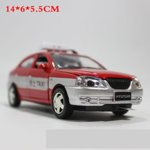 1:24 Pull back Model Toy Diecast Model Sports car Modern taxi Vehicle Model Alloy Car toys For children(China)