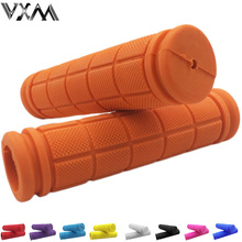 VXM Bicycle Handlebar Grips Double Lock Soft Rubber Cycling BMX Road MTB Bike Scooter Fixed Gear Handlebar Grips Bicycle Parts(China)