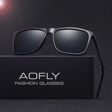 AOFLY Brand Classic Polarized sunglasses Men Driving Square Black Frame Eyewear Male Sun Glasses for men Oculos Gafas AF8027(China)