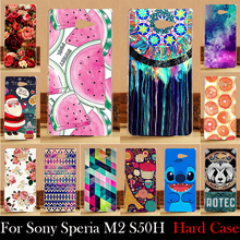 FOR SONY Ericsson Xperia M2 S50H Aqua D2303 D2305 D2306 Case Hard Plastic Cellphone Mask Case Protective Cover Housing Skin Mask
