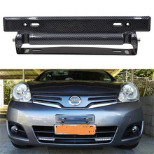 Universal Carbon Fiber License Plate Frame Holder Adjustable License Number Plate Holder Car Accessories(China)