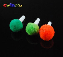 100pcs Pack Mixed Colorful Plush Ball Dustproof Plug Ear Cap For 3.5mm Mobile/Cell Phone Earphone Jack #GLS007-A(Mix-s)(China)