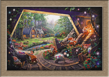 Thomas Kincaid Snow White and the Seven Dwarfs HD Print Oil Painting Wall Art Picture For Living Room painting no frame(China)