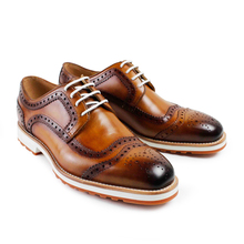 Men Limited New Flat 2017 Latest Custom Mens Derby Shoes Luxury Party Dress Wedding Lace Up Genuine Leather original design(China)