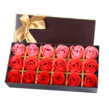 18Pcs Creative Gradient simulation rose Soap flower Red