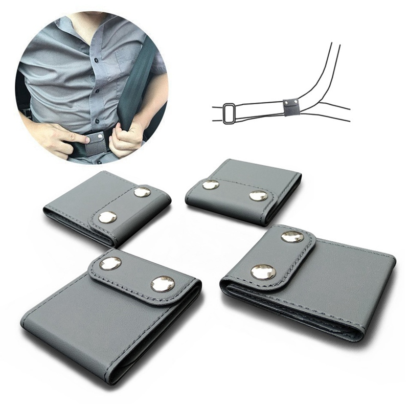 PU Leather Seatbelt Adjuster Auto Shoulder Neck Protector Locking Clip Cover Vehicle Seat Belt Positioner ,Car Universal