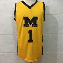 #1 Jamal Crawford Michigan Wolverines College Throwback Basketball Jersey Stitched any Number and name(China)