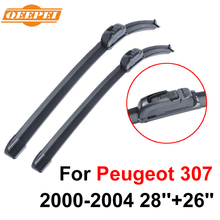 QEEPEI Wiper Blade For Peugeot 307 2000-2004 28''+26'' High Quality Iso9000 Natural Rubber Clean Front Windshield CPU103-1