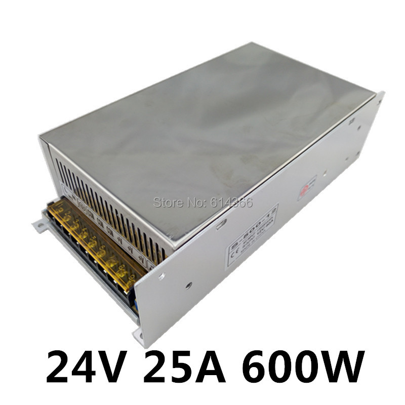 New Arrival 24V 25A 600W Switching Power Supply Driver for LED Strip AC 100-240V Input to DC 24V<br>