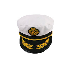Vintage navy cap Captain Flat Top men Hat Golden Leaves Embroidery Commander Cap Sailor Logo Sunhat British Army Caps DP640753
