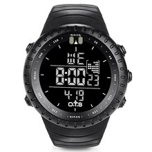 OTS Fishing Watch Rubber Diving Led Digital Sport Clock Men Electronic Army Military Black Sports Shockproof Waterproof Watch(China)