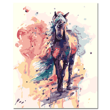Hand Painting On canvas Diy Oil Painting By Numbers Horse and deer Coloring by numbers nordic decoration fashion poster gift(China)