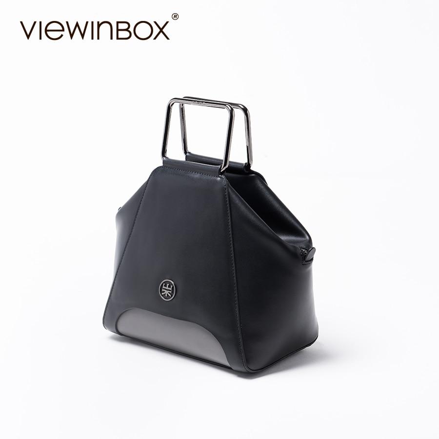 Viewinbox Designer Split Leather Cube Bag Ladies Handbag Women Shell Leather Bag Bolsa Concha Funny Womens Handbag Black<br><br>Aliexpress