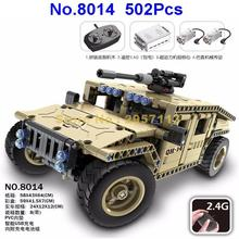 8014 502pcs Technic Military Remote Control RC Armed Hummer Car Building Block Brick Toy(China)